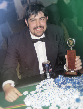 Casino Party 'Winner' is awarded a trophy